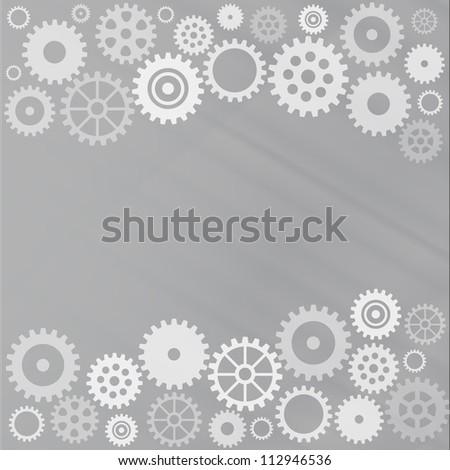 Grey gear background
