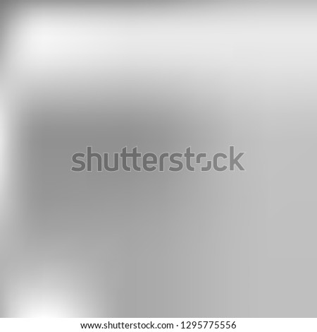 Grey gradient abstract background. Cloudy sky. Silver metallic square backdrop. Grey gradient wallpaper. Soft blur background for graphic display design. Vector template. Halftone Backdrop. Grey tone