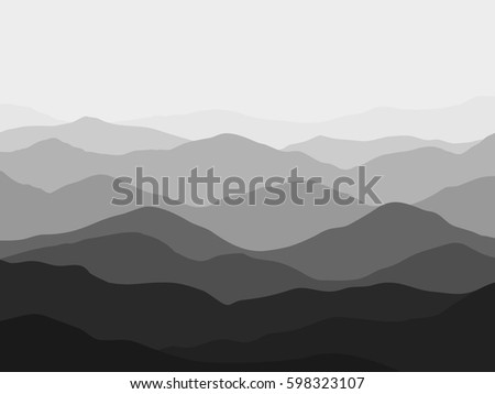 grey gradient nature mountains