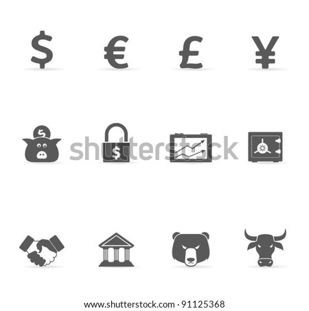 Grey Icons - Finance
