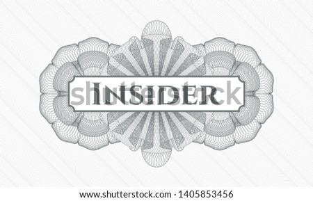 Grey linear rosette with text Insider inside