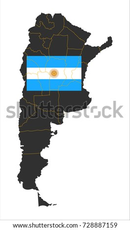 grey map of argentina and