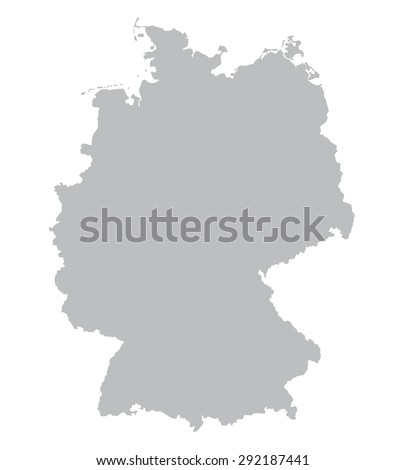 grey map of germany