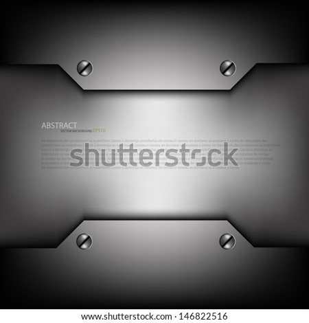 grey metal background for text
