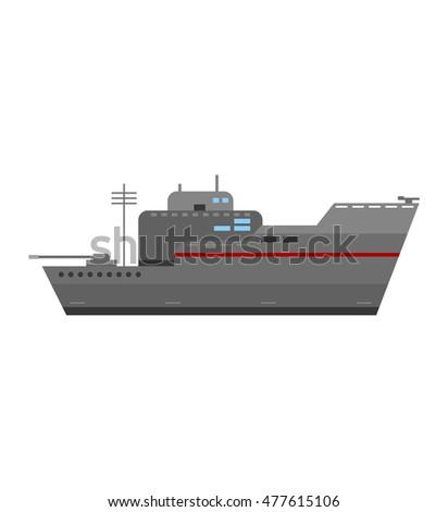 grey modern warship sailing