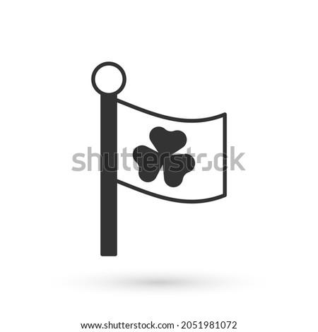 grey national ireland flag with