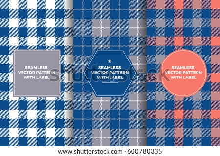 grey  navy and coral tartan and