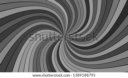 Grey psychedelic abstract striped swirl background design - vector graphic with swirling rays