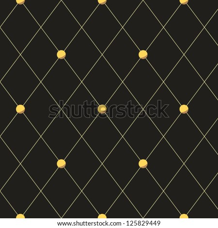 Grey quilted rhombus seamless pattern, vector