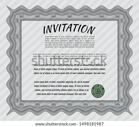 Grey Retro invitation template. Printer friendly. Customizable, Easy to edit and change colors. Superior design.
