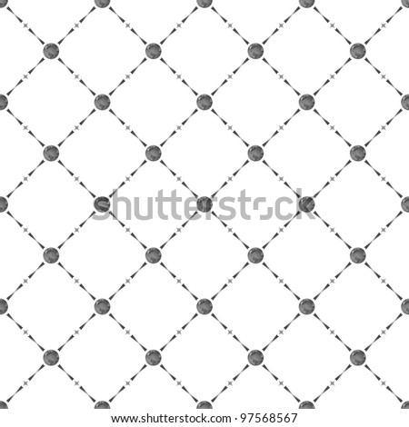 Grey seamless pattern with earth symbol, 10eps.
