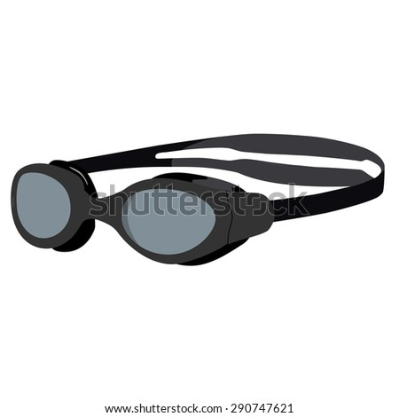 Goggles Vector Grey Swimming Goggles Vector