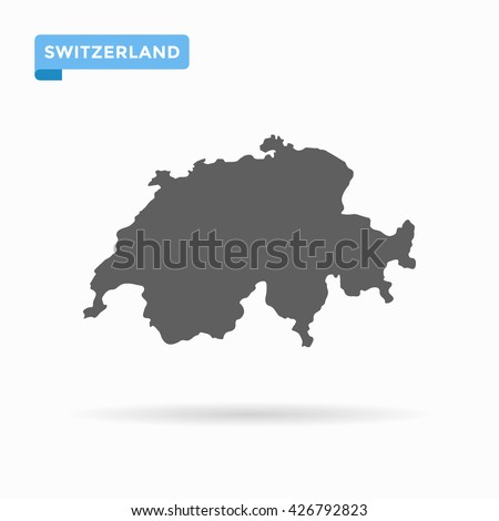 grey switzerland map similar