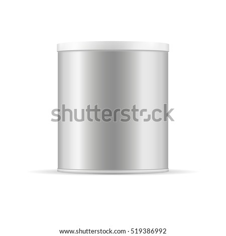 grey tin can with plastic cap