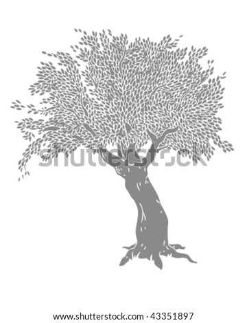 stock vector : Grey Tree