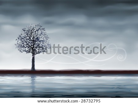 grey tree over water  other