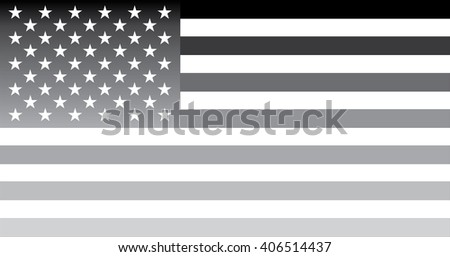 Grey USA flag - isolated vector #406514437