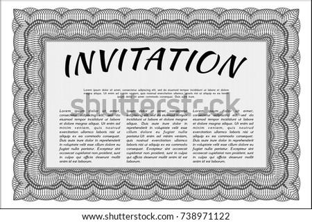 grey vintage invitation