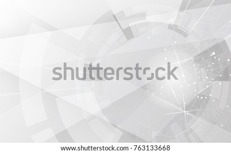 Grey wheel geometric technology background with gear shape. Vector abstract graphic design #763133668