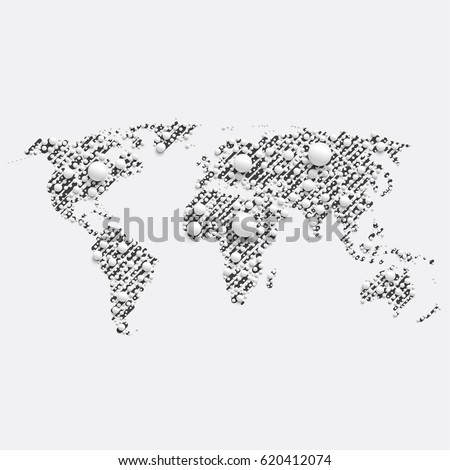 Abstract world map made with network lines descargue grficos y grey world map made by balls and lines vector illustration gumiabroncs Image collections