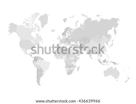 grey world map vector