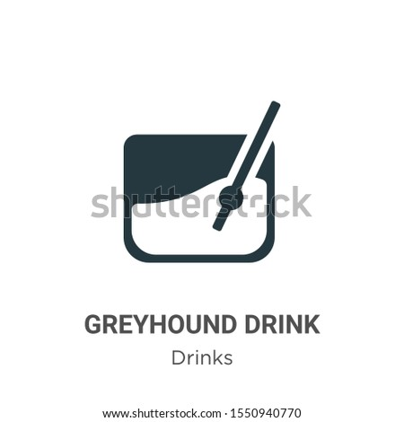 Greyhound drink vector icon on white background. Flat vector greyhound drink icon symbol sign from modern drinks collection for mobile concept and web apps design.