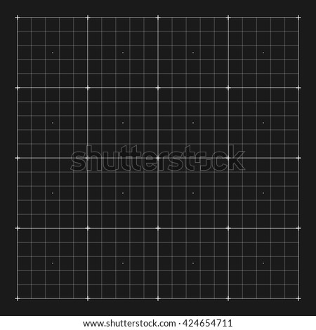 Grid marking for user HUD interface. Digital, system screen, interface, electronic virtual. Vector illustration