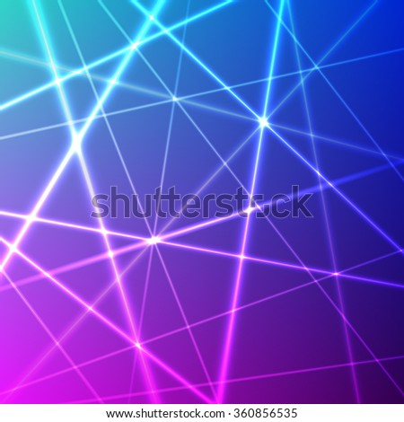 grid of colorful laser rays