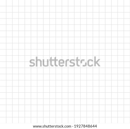 Grid on white background. Technical architect blank. Graph sketch. Grid paper long banner. Checkered backdrop of map. Printable geometric design elements. Notebook paper. Vector illustration.