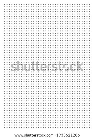 Grid paper. Dotted grid on white background. Abstract dotted transparent illustration with dots. White geometric pattern for school, copybooks, notebooks, diary, notes, banners, print, books.