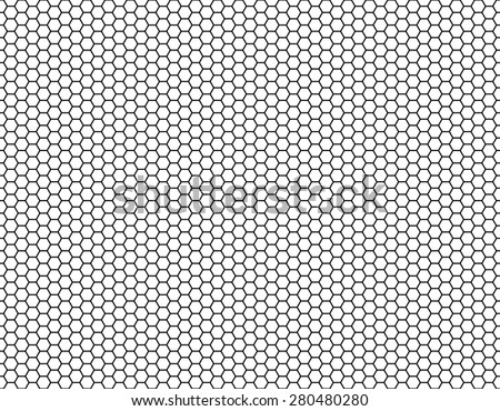 Grid seamless background. Hexagonal cell texture, Honeycomb, Speaker grille. Vector