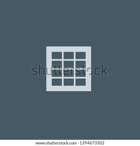 Grids vector icon. Grids concept stroke symbol design. Thin graphic elements vector illustration, outline pattern for your web site design, logo, UI. EPS 10.