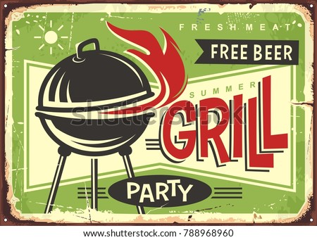grill appliance with red fire...