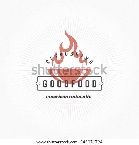 grill hand drawn design element ...
