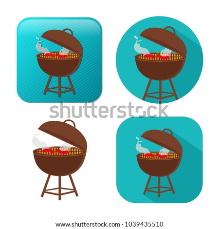 grill icon - vector barbecue party - picnic symbol