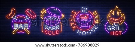 grill is a set of neon style