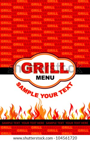 Grill menu card design.