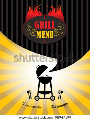 Grill Menu, Vector illustration