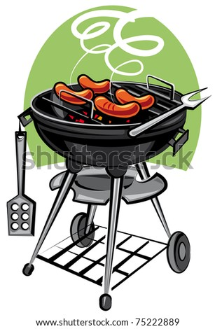 grill utensil - stock vector