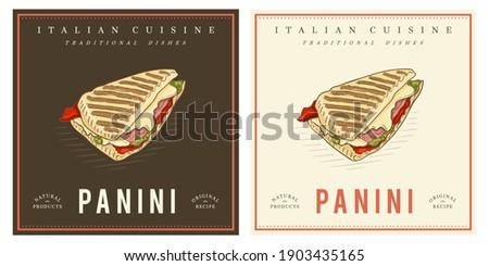 Grilled Cheese Panini Sandwich tasty Stok fotoğraf ©