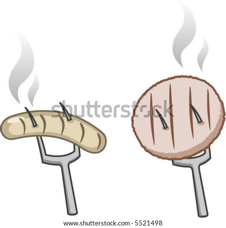grilled meat icons