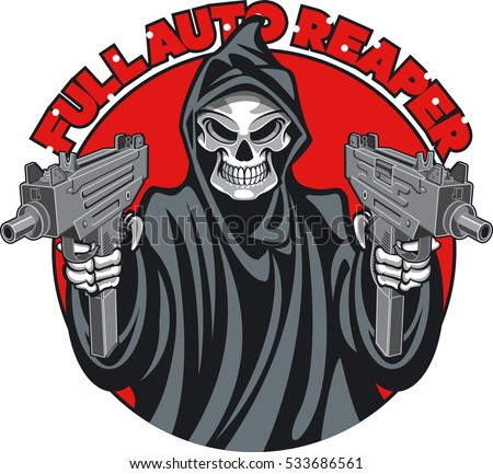 grim reaper holding machine