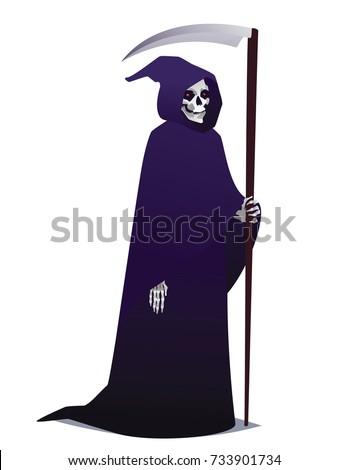 grim reaper holding scythe