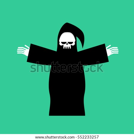 grim reaper isolated death in