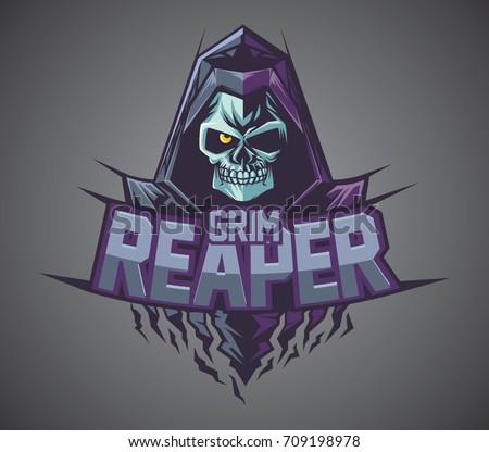 grim reaper logo mascot vector