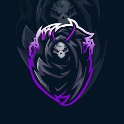 Grim Reaper Logo Template Esport gaming