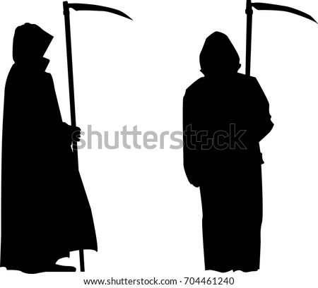 grim reaper silhouette with