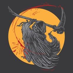 Grim reaper slashing. Grim reaper ghost.