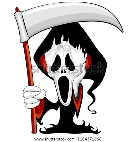 grim reaper the scream cartoon