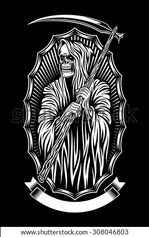 grim reaper vector art